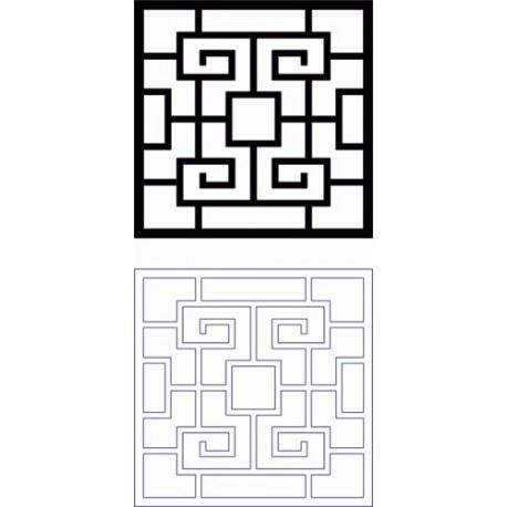 Design Grille Pattern 165 Free DXF File