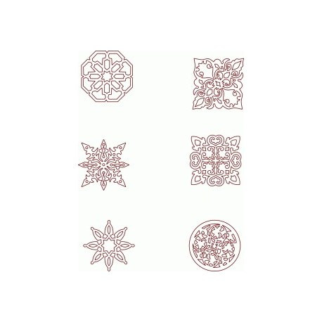 Moroccan Seamless Patterns Free DXF File