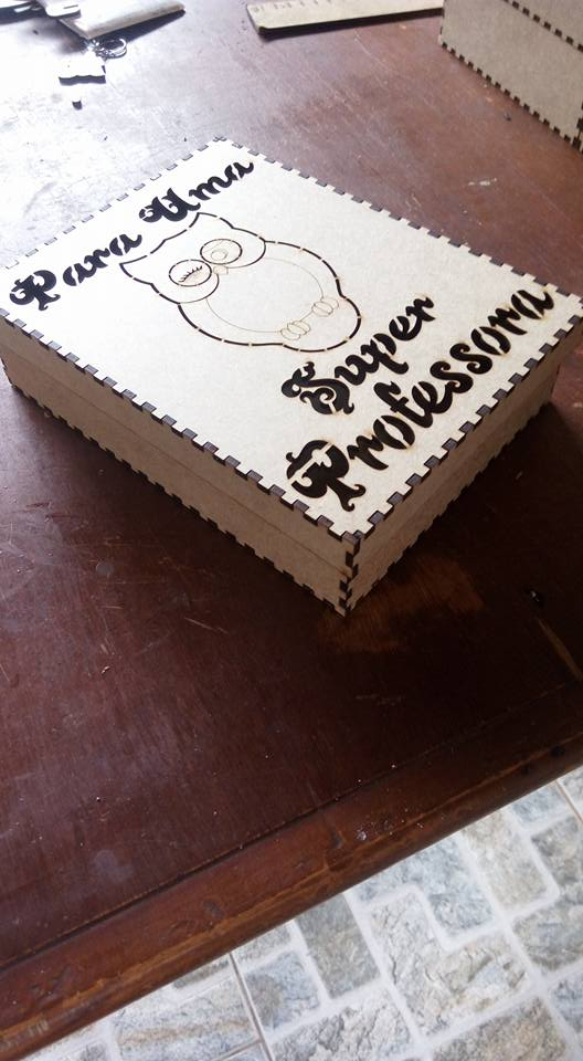 Box With Owl Free DXF File