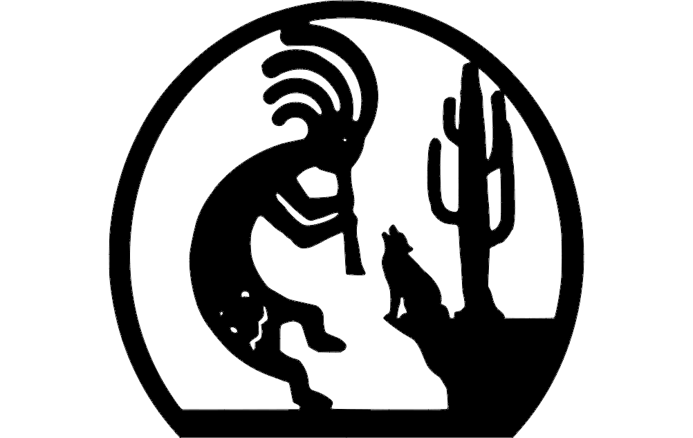 Kokopelli Silhouette Free DXF File