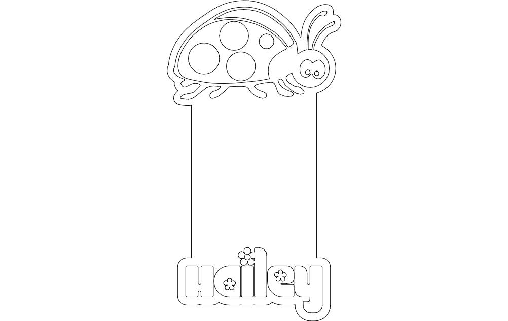 Ladybug Design Free DXF File