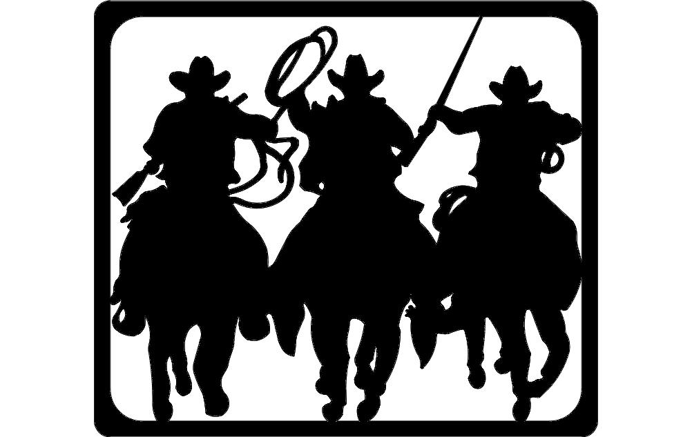 Laworder Cowboy Silhouette Free DXF File