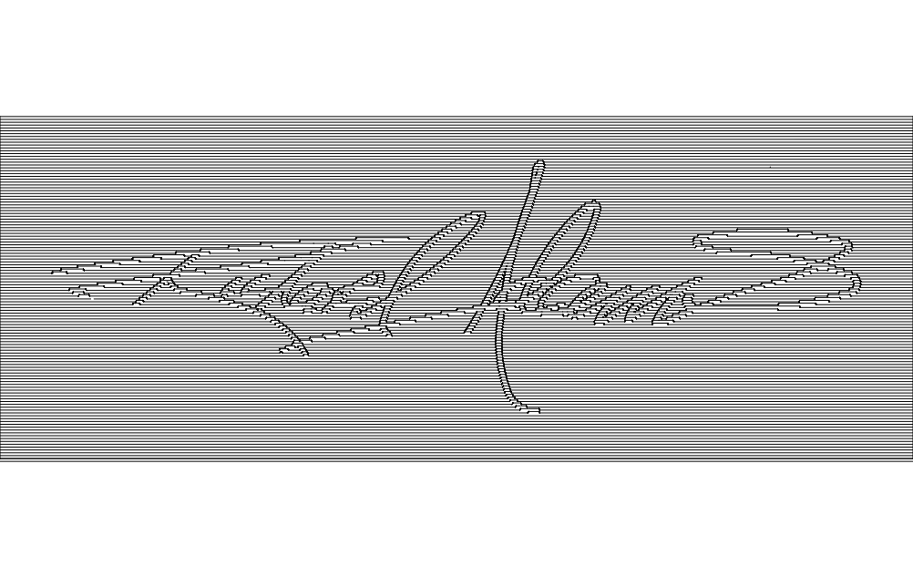 Line Letters Art Free DXF File