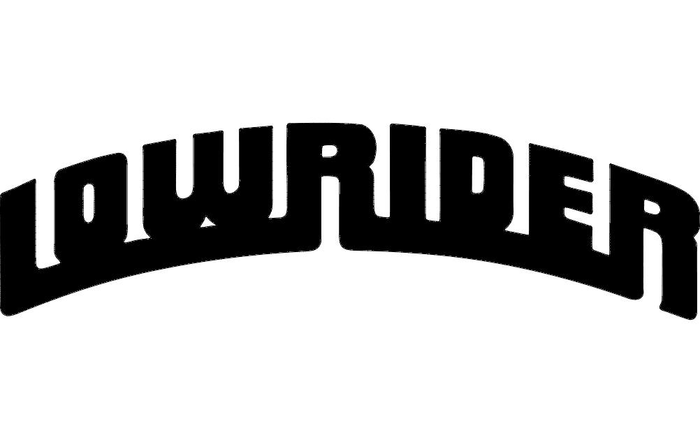 Lowrider Logo Free DXF File