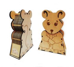 Mouse Shaped Box For Laser Cut Cnc Free DXF File