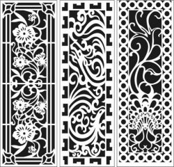 Screens And Partitions For Home And Office For Laser Cut Cnc Free DXF File