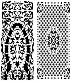 Set Of Arabic Style Baffles For Laser Cut Cnc Free DXF File