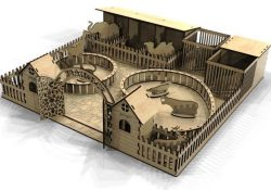 Zoo Model For Laser Cut Cnc Free DXF File