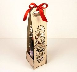 Bottle Of Wine For Sale For Laser Cut Cnc Free DXF File