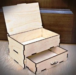 Box With Drawers For Laser Cut Cnc Free DXF File