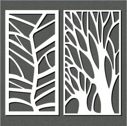 Butterfly Shaped Tree For Laser Cut Cnc Free DXF File