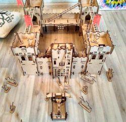 Castle Model For Laser Cut Free DXF File
