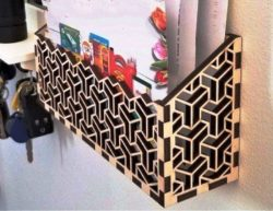 Mail Holder For Laser Cut Free DXF File