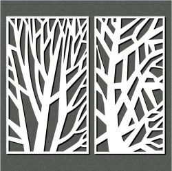 The Tree Has Sharp Lines For Laser Cut Cnc Free DXF File