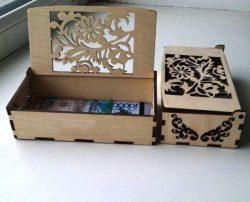 Money Box For Laser Cut Cnc Free CDR Vectors Art