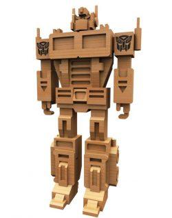3d Puzzle Robot Model For Laser Cut Cnc Free DXF File