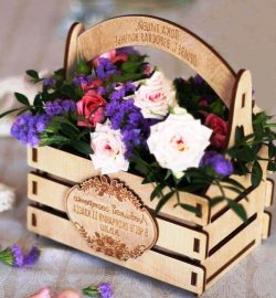 Basket Of Flowers For Laser Cut Cnc Free DXF File