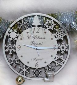 Silver Wall Clock For Laser Cut Cnc Free DXF File