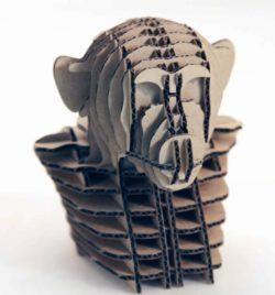 3d Mokey Head For Laser Cut Free CDR Vectors Art