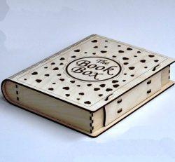 Book Box For Laser Cut Cnc Free CDR Vectors Art