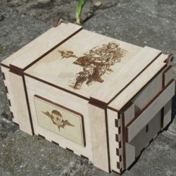 Box In The Military For Laser Cut Cnc Free CDR Vectors Art