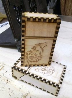 Box Of Bears And Wolves For Laser Cut Cnc Free CDR Vectors Art