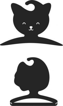 Cat Clothes Hangers For Laser Cut Cnc Free CDR Vectors Art