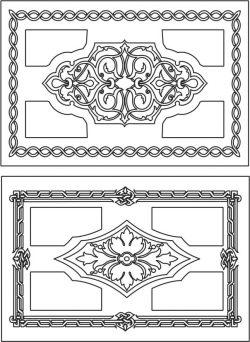 Creative Rectangular Decorative Motifs For Laser Cut Cnc Free CDR Vectors Art