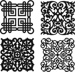 Damask Seamless Floral Pattern For Laser Cut Plasma Free CDR Vectors Art