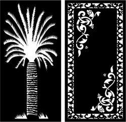 Date Palm Partition For Laser Cut Cnc Free CDR Vectors Art