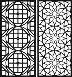 Decorative Circular Baffle For Laser Cut Cnc Free CDR Vectors Art