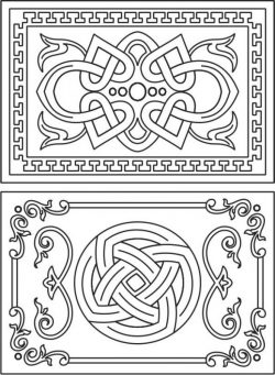 Decorative Frame With Overlapping Motifs For Laser Cut Cnc Free CDR Vectors Art