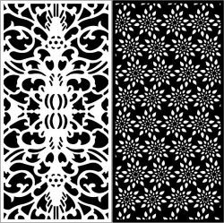 Design Pattern Panel Screen k89 For Laser Cutting Cnc Free CDR Vectors Art
