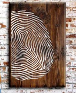 Fingerprint Painting For Laser Cut Cnc Free CDR Vectors Art