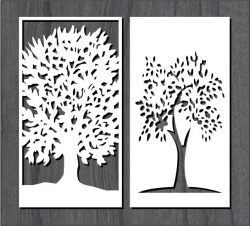 Great Tree Pattern For Laser Cut Cnc Free CDR Vectors Art
