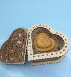 Heart Shaped Gift Box For Laser Cut Cnc Free CDR Vectors Art