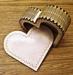 Heart Trinket Box For Laser Cut Cnc Free CDR Vectors Art