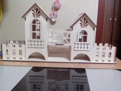 House Assembly Model For Laser Cut Cnc Free CDR Vectors Art