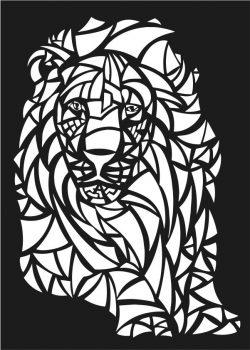 Lions Motifs Lion For Laser Cut Cnc Free CDR Vectors Art