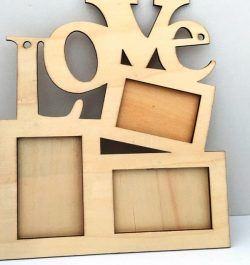 Love Photo Frames For Laser Cut Cnc Free CDR Vectors Art