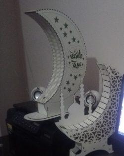 Moon Light For Laser Cut Free CDR Vectors Art