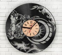 Motorcycle Wall Clock For Laser Cut Cnc Free CDR Vectors Art