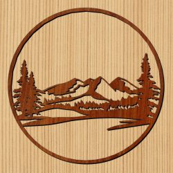 Northern Mountain Forest For Laser Cut Cnc Free CDR Vectors Art