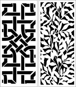Partition Of Leaf Motifs And Interwoven For Laser Cut Cnc Free CDR Vectors Art