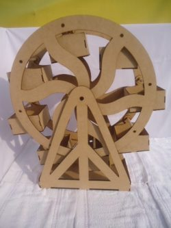 Pastry Shelf Shaped Like A Ferris Wheel For Cnc Laser Cutting Free CDR Vectors Art