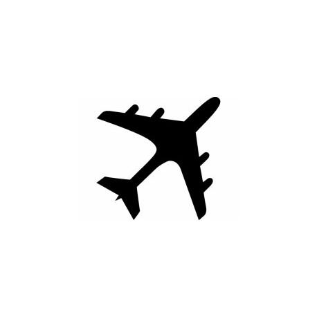 Aeroplane Silhouette Free DXF File