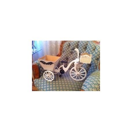Bisiklet Sepetli Bicycle Free DXF File