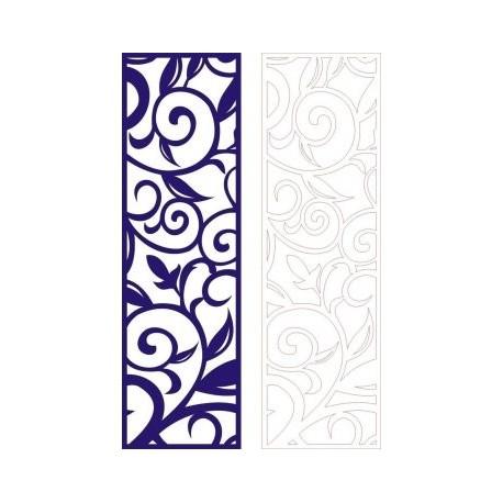 Cutout Partition Lace Floral Porch Template Free DXF File