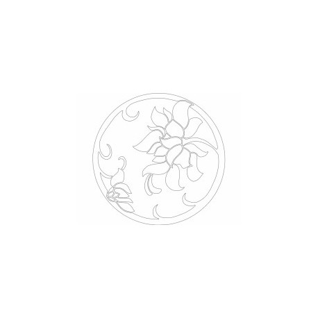 Flower Design Art Free DXF File