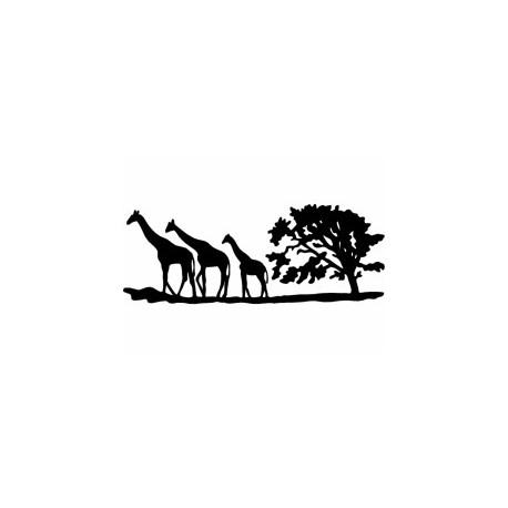 Giraffe Tree Silhouette Free DXF File